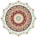Circle ornament. Circular pattern of traditional motifs and ancient oriental ornaments stock illustration