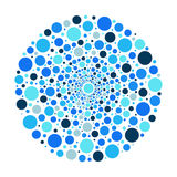 Circle ornament, blue bubbles vector pattern. Circle ornament bubbles vector pattern Royalty Free Stock Image