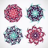 Circle ornament with ethnic motives Stock Image