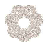 Circle ornament frame with space for text Royalty Free Stock Photos