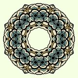 Circle ornament, ornamental round lace Royalty Free Stock Image