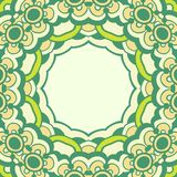 Circle ornament, ornamental round lace Royalty Free Stock Images