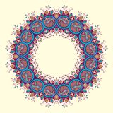 Circle ornament, ornamental round lace Stock Photo