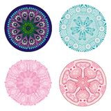 Circle ornament, ornamental round lace collection Royalty Free Stock Photos