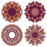 Circle ornament, ornamental round lace collection Royalty Free Stock Photography