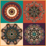 Circle ornament, ornamental round lace collection Royalty Free Stock Photo