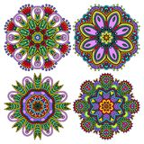 Circle ornament, ornamental round lace collection Stock Images