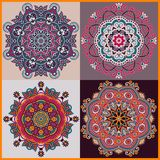 Circle ornament, ornamental round lace collection Royalty Free Stock Image