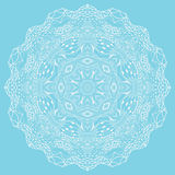 Circle ornament, ornamental round lace. Royalty Free Stock Image