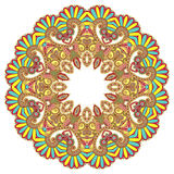 Circle ornament, ornamental round lace Stock Images