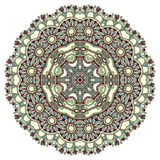 Circle ornament, ornamental round lace Royalty Free Stock Photography