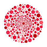 Circle ornament, red and pink bubbles vector pattern. Circle ornament bubbles vector pattern Royalty Free Stock Photos