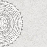 Circle ornament with tribal motifs Royalty Free Stock Image
