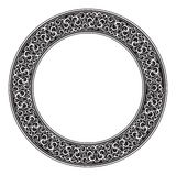 Circle ornamental decorative frame Stock Photos