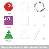Circle and other shapes. Vector numbers game. Stock Photo