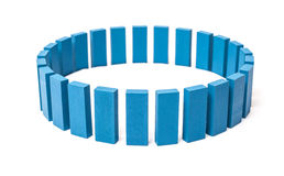 Circle out of blue blocks Royalty Free Stock Image