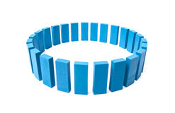 Circle out of blue building blocks Royalty Free Stock Images