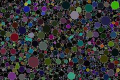 Circle packing abstract background image. Non overlapping circles abstract background. Created by algorithm, software generated abstract background vector illustration