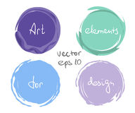 Circle paint drop set Royalty Free Stock Photos