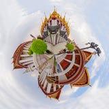 Circle panorama Golden pagoda in Wat Ratcha Nadda Temple. 360 degree Circle panorama Golden pagoda in Wat Ratcha Nadda Temple Stock Photography