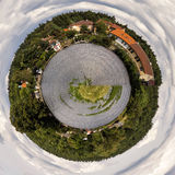 Circle panorama of a small town Stock Image