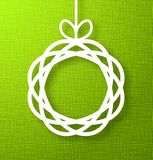 Circle Paper Applique on Green Background. Royalty Free Stock Photos