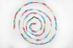 Circle of paper clips Royalty Free Stock Photography