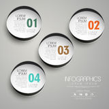 Circle paper label infographic elements Stock Photo