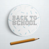 Circle Paper Piece with Back to School Text Stock Images