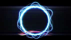 Circle particle stock video footage