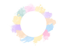 Circle of pastel water color. Wreath border. Circle of pastel water color. Wreath border Royalty Free Stock Image