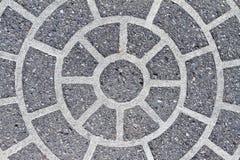 Circle pattern. In sidewalk concrete stock image