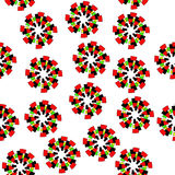 Circle pattern. Abstract pattern on a white background vector illustration