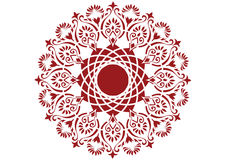Circle pattern. Red flower pattern for wallpaper Royalty Free Stock Image