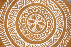 Circle Pattern. A pattern on a rural house. The walls are mud Royalty Free Stock Images