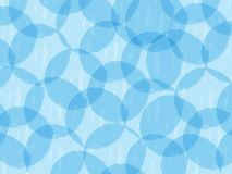 Circle pattern abstract background, blue theme, illustration, watercolor paint style. Copy space for text royalty free illustration