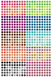 Circle pattern cut colorful set. This illustration is design circle pattern cut colorful in isolated set on white color background Royalty Free Stock Photography