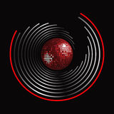 Circle pattern and disco ball Royalty Free Stock Image