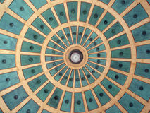 Circle pattern from dome in Plaza in Costa Rica Royalty Free Stock Photo