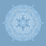 Circle pattern with lacy snowflake Stock Photos