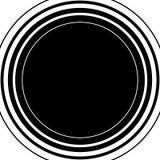 Circle pattern. Radial lines. Abstract minimalist sonar, aura el Stock Photography