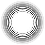 Circle pattern. Radial lines. Abstract minimalist sonar, aura el Royalty Free Stock Photo