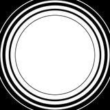 Circle pattern. Radial lines. Abstract minimalist sonar, aura el Royalty Free Stock Photography