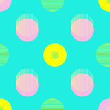 Circle pattern. Repeating dots round abstract background for wall paper. Flat minimalistic design. Stock Photos