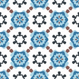 Circle pattern. Seamless pattern with big and small decorate elements Royalty Free Stock Photo