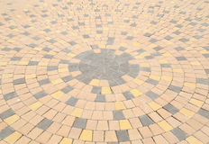 Circle pattern of stone paving Stock Photo