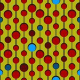 Circle pattern with varying colors. Can be used as seamless pattern royalty free illustration