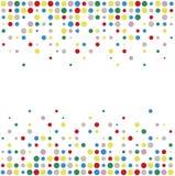 Circle pattern on white background Stock Photos