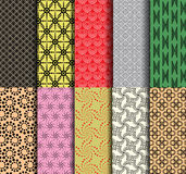 10 Circle Patterns collection. 10 Patterns collection from circle royalty free illustration