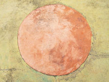Circle on the pavement stones Stock Images